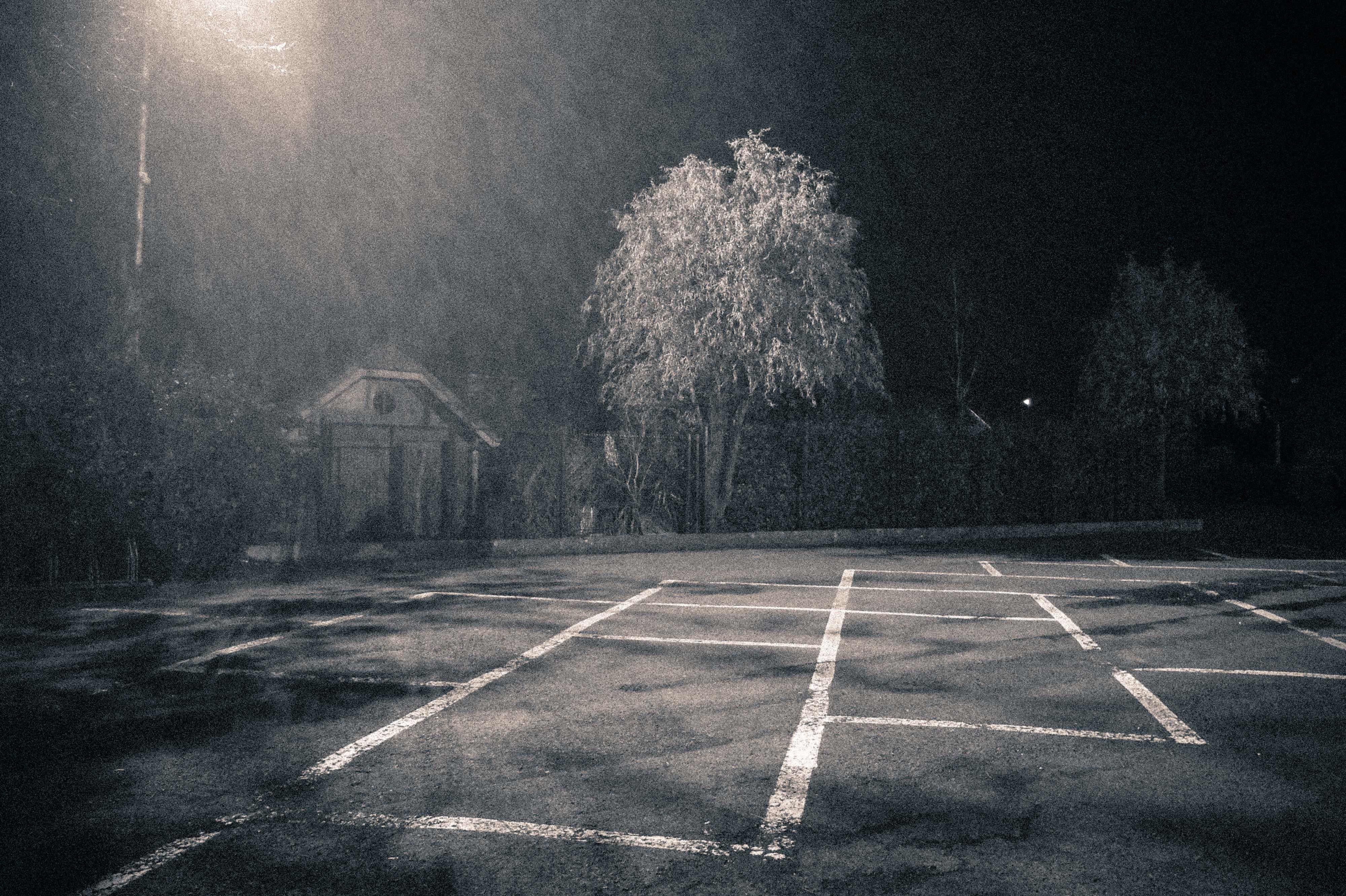 Le parking d'une salle de gala.